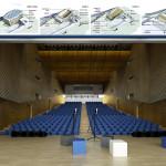 Auditorium: vista interna e schemi funzionali