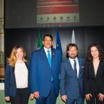 Benedetta Gargiulo Morelli con l'Ambasciatore del Qatar, il Presidente dell'Ordine degli Architetti di Roma e l'Arch.Valina Geropanta